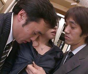 دو بچه فیلم و creampie آیکو، hirose در دفتر